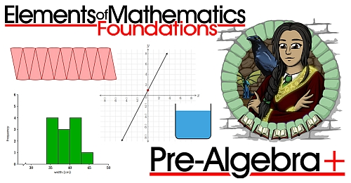 An online math course designed for gifted students that covers all of pre-algebra plus several university-level topics.